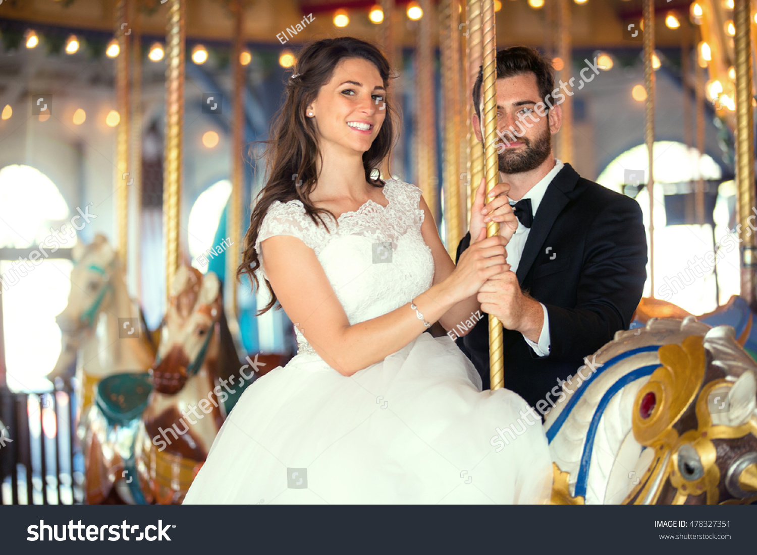 Destination Wedding Theme Park Lovers Married Stock Photo Edit Now