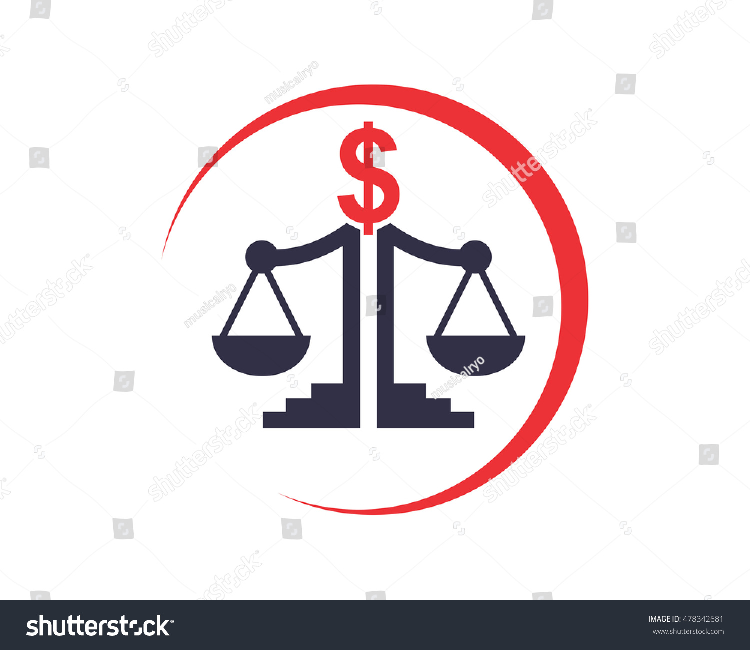 Scales Of Justice Equality Law Libra Court Judge Image Vector Icon