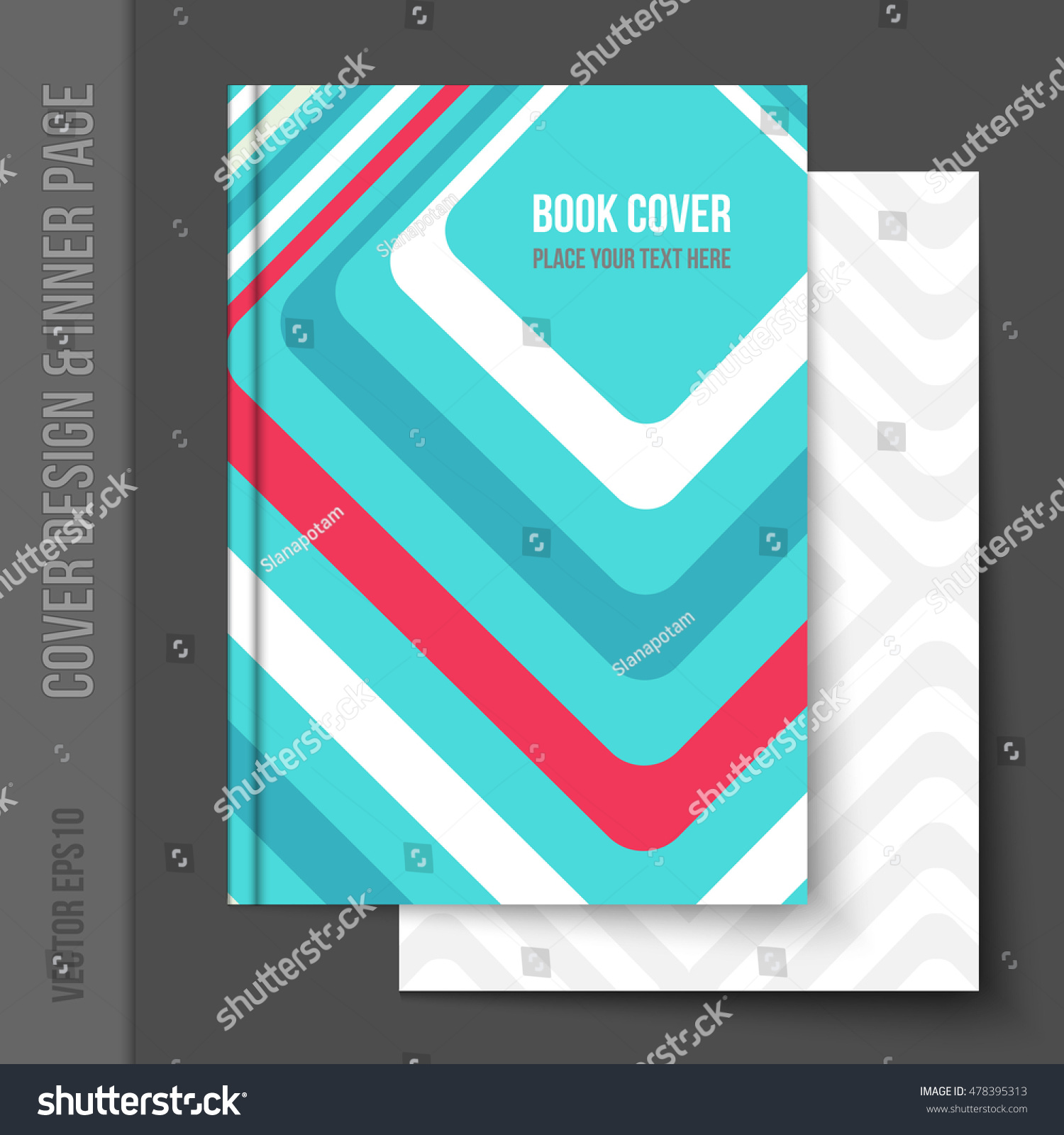 Bright Cover Design Business Brochure Annual Stock Vector Royalty
