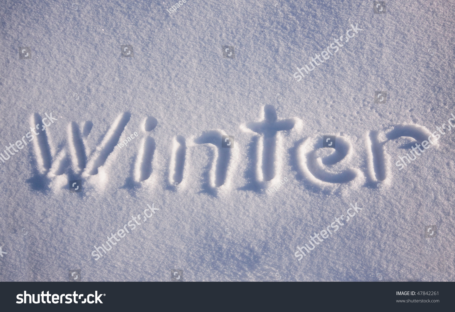 Letter Word With Snow In It