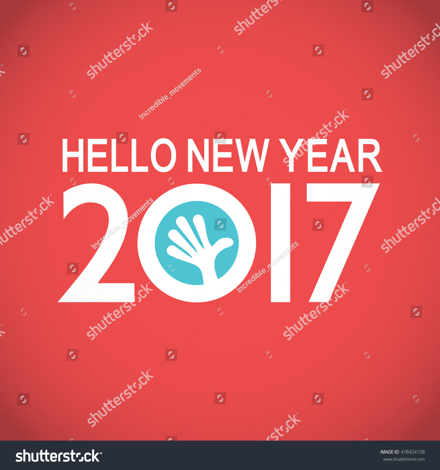 greeting card inside 2017 year stock vector 478424158