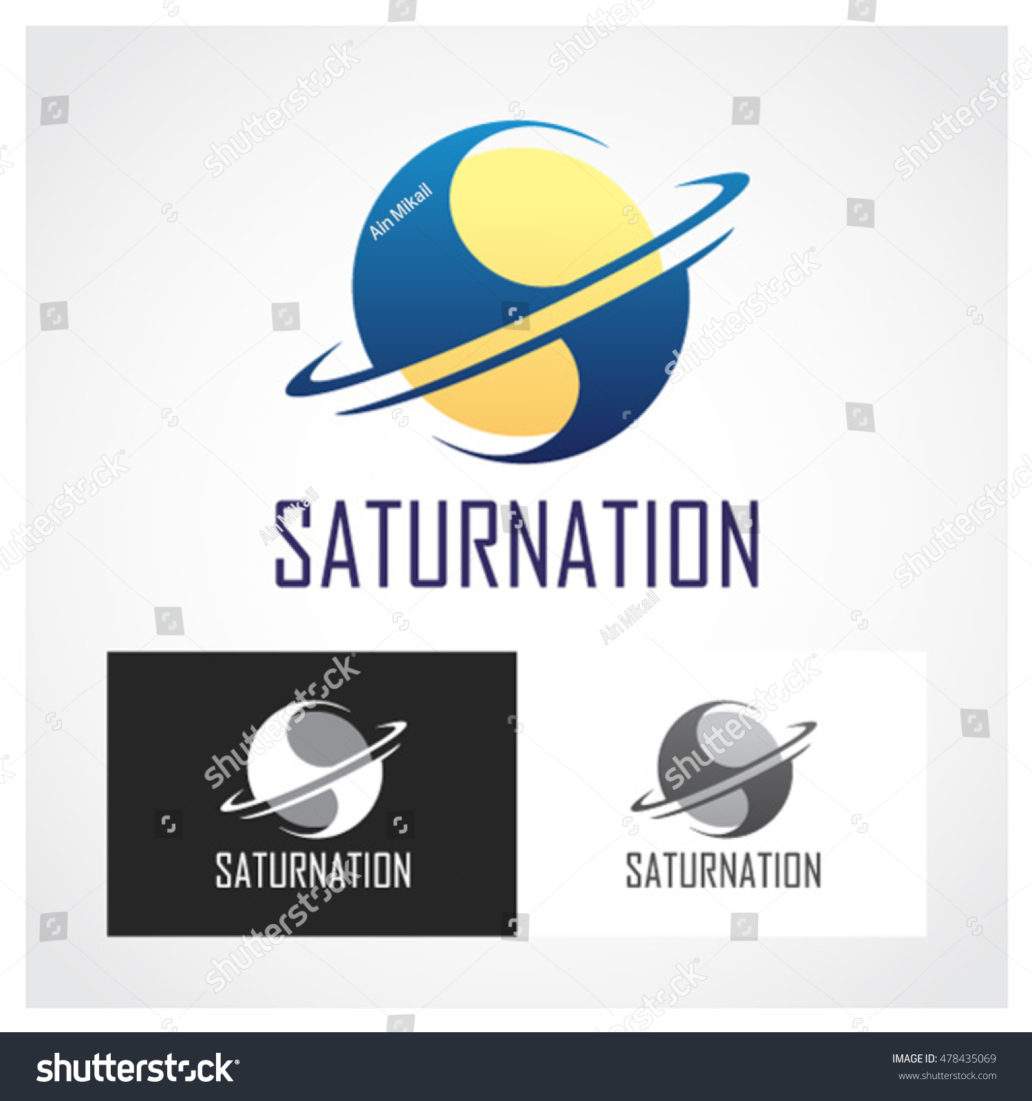 Saturn symbol suitable professional design use stock vector saturn symbol suitable for professional design use buycottarizona Image collections