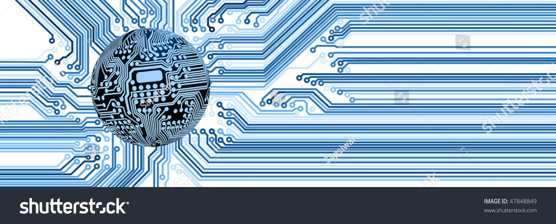 Spherical Circuit Diagram Icon Set Stock Illustration 47848849 ...