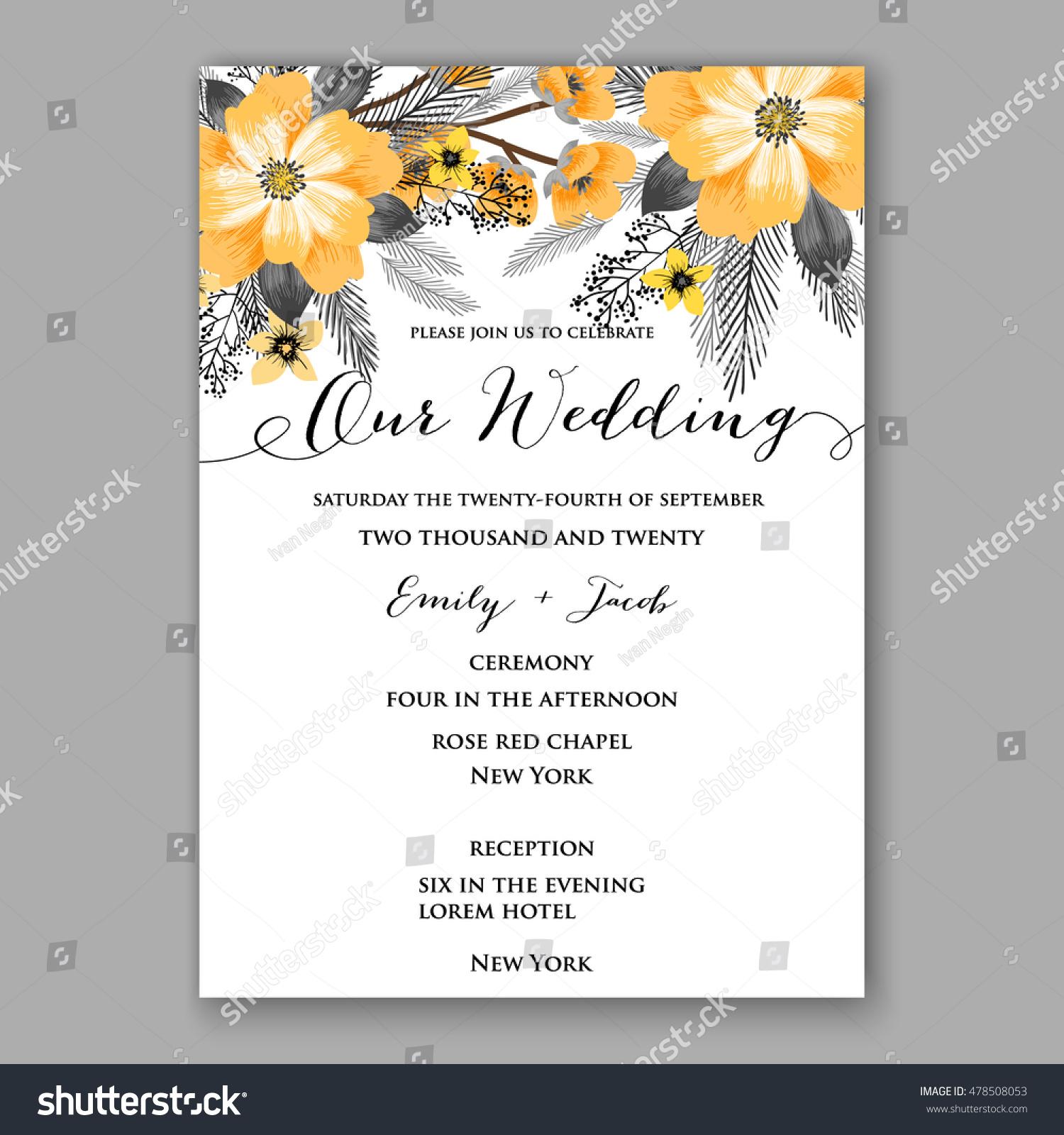 poinsettia wedding invitation sample card beautiful stock vector poinsettia wedding invitation sample card beautiful winter floral or nt christmas party wreath poinsettia pine branch
