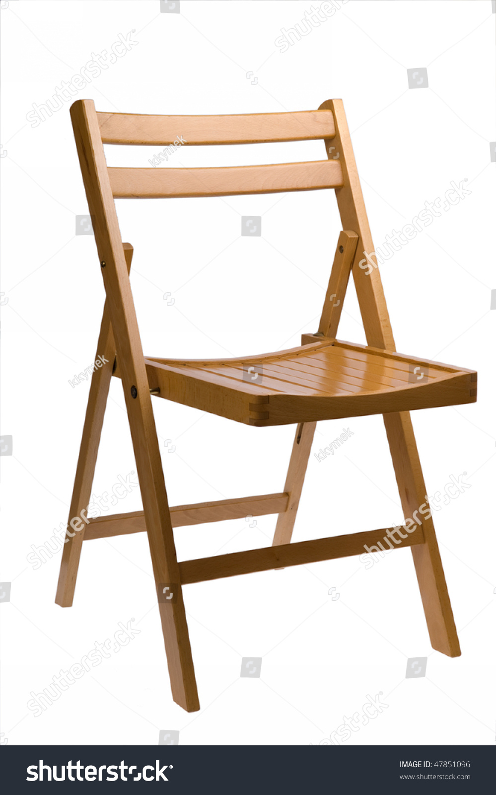Wooden Folding Chair Isolated White Stock Shutterstock