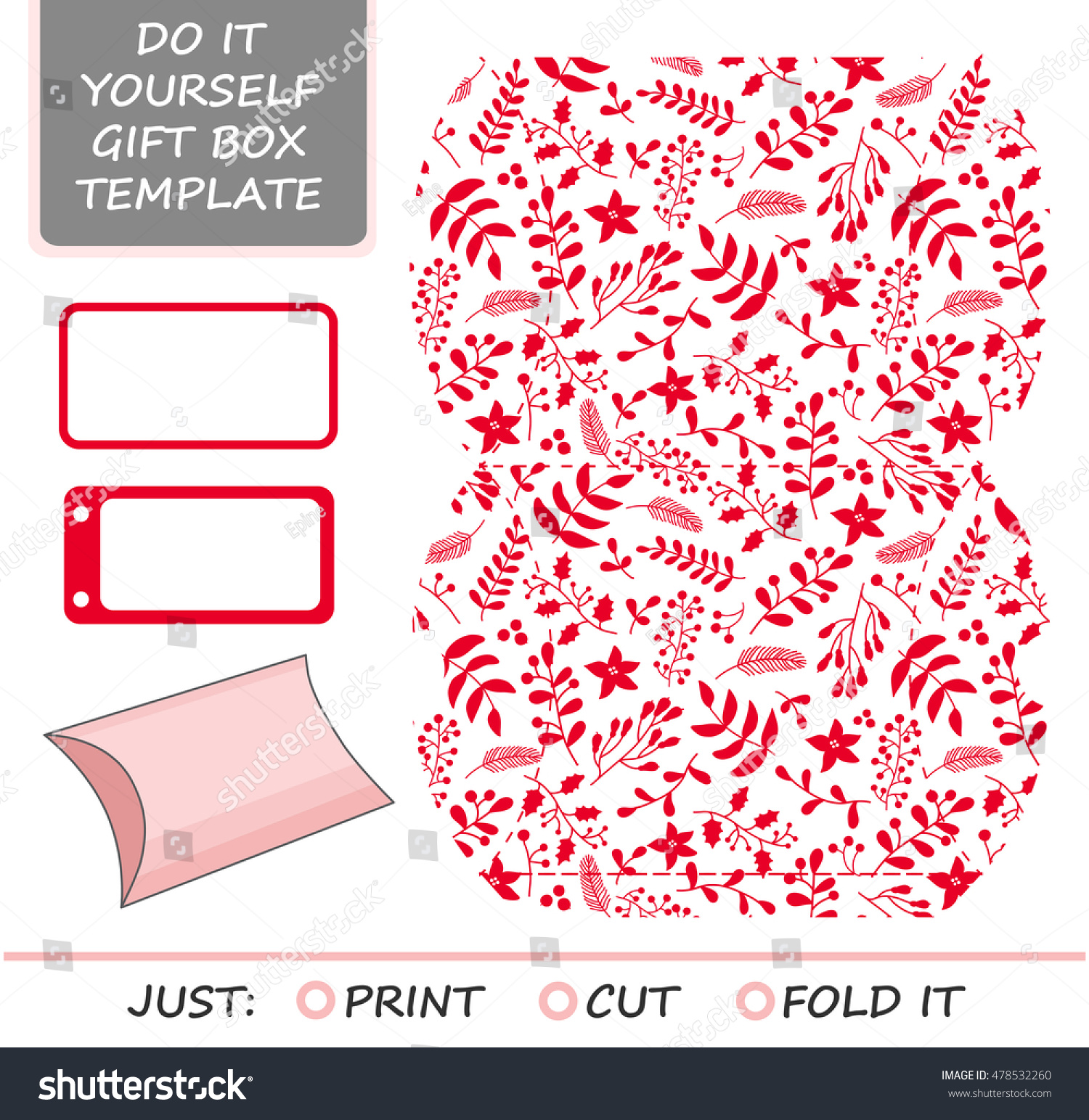 Christmas vector gift packaging template favor vectores en stock christmas vector gift packaging template favor gift box die cut template red and solutioingenieria Images