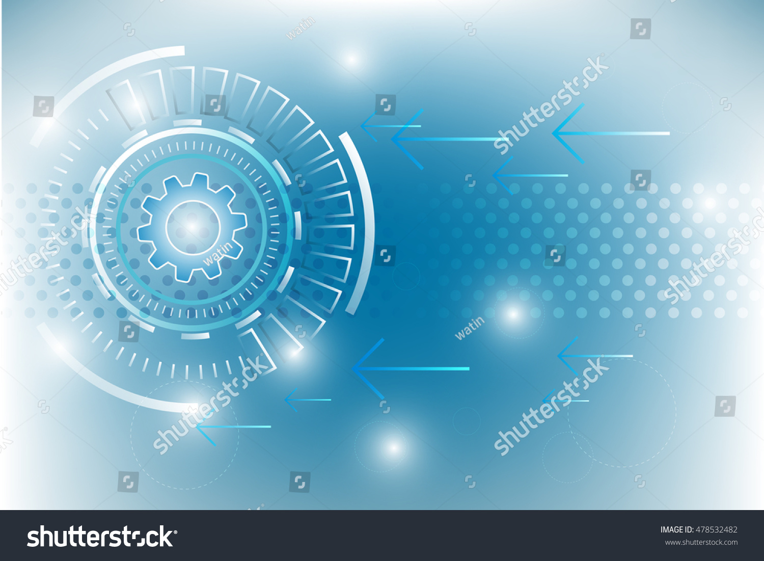 Abstract Technology Background With Light Effect: Abstract Technology Background Design Light Effect Stock