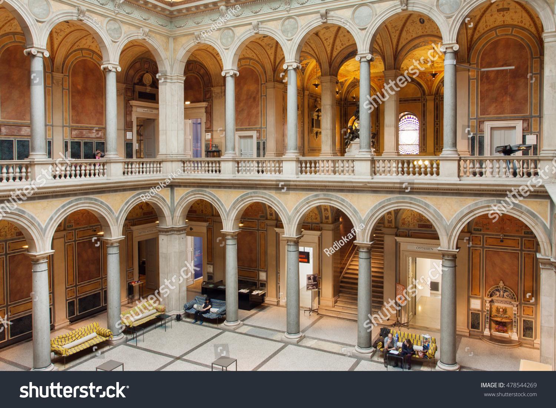 Vienna Austria Jun 10 Tourists Resting Buildings Landmarks Stock Image 478544269