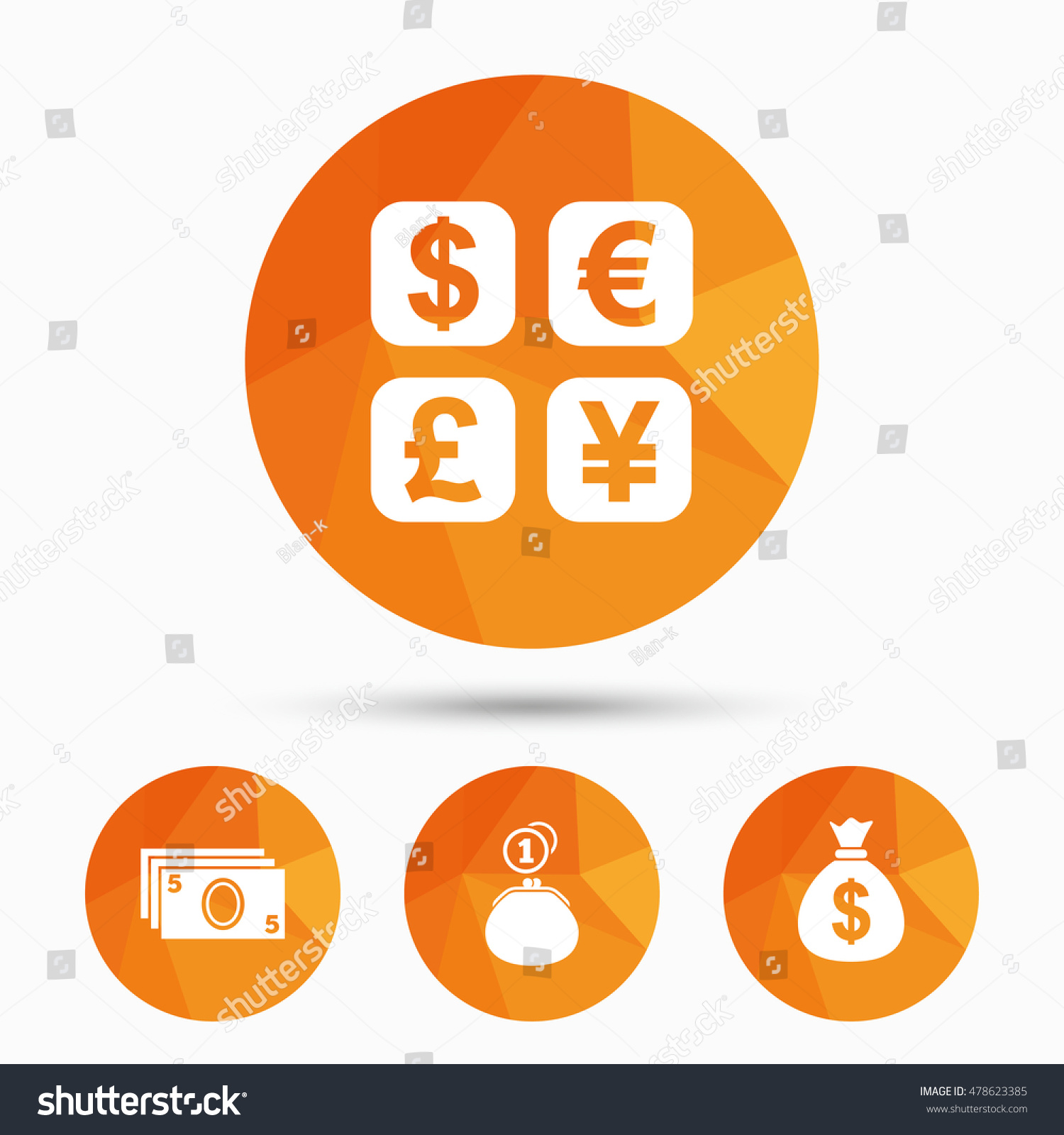 Currency exchange icon cash money bag stock vector 478623385 currency exchange icon cash money bag and wallet with coins signs dollar euro nvjuhfo Gallery