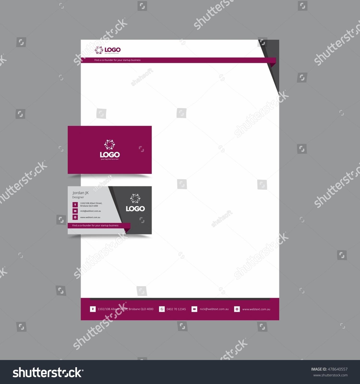 Stylish Professional Business Card Letterhead Stock Illustration ...