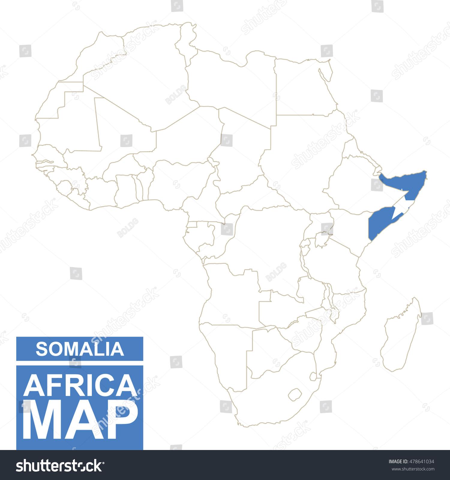Somalia on africa map what is rail transportation hvac symbol somalia map africa automatic irrigation system diagram stock photo africa contoured map with highlighted somalia somalia sciox Images
