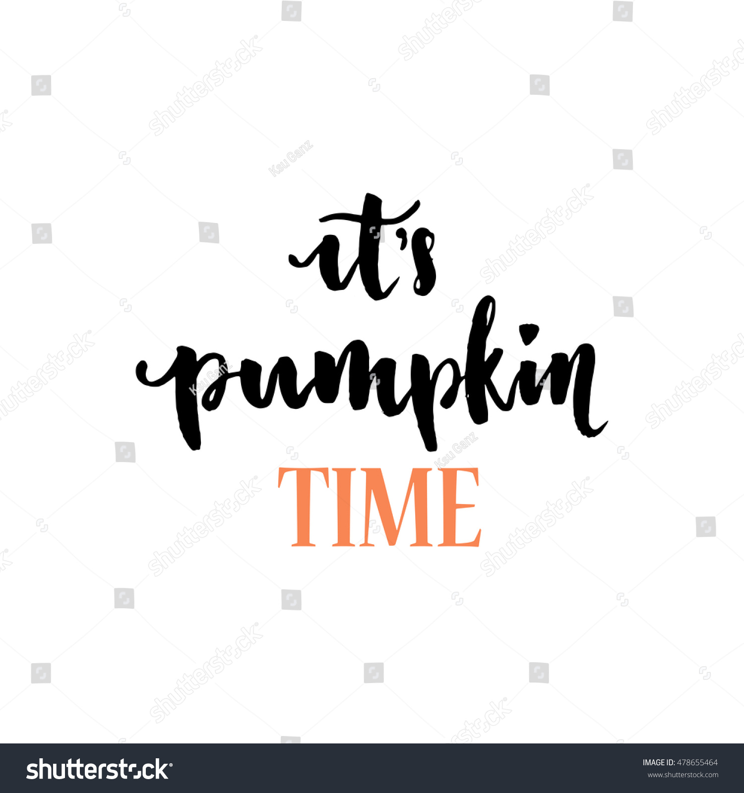 pumpkin time positive quote happy halloween stock vector (royalty