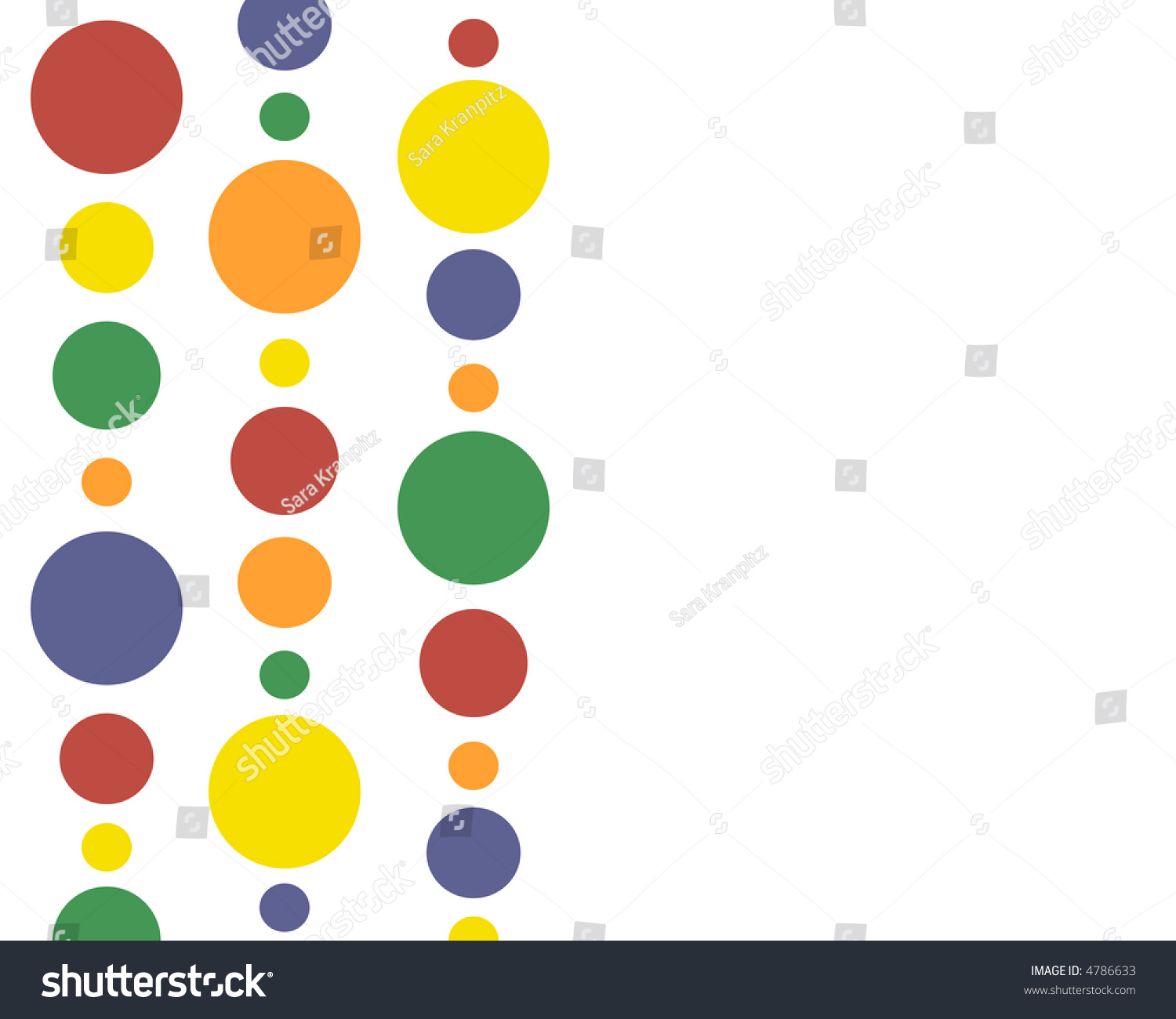 primary colors polkadots in a row stock photo 4786633