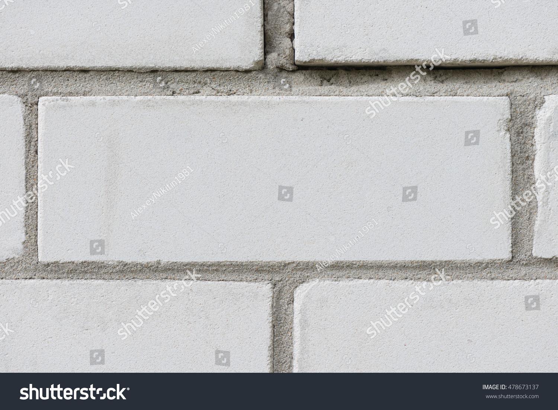 Lime Brick On Image : Masonry of white sand lime brick stock photo