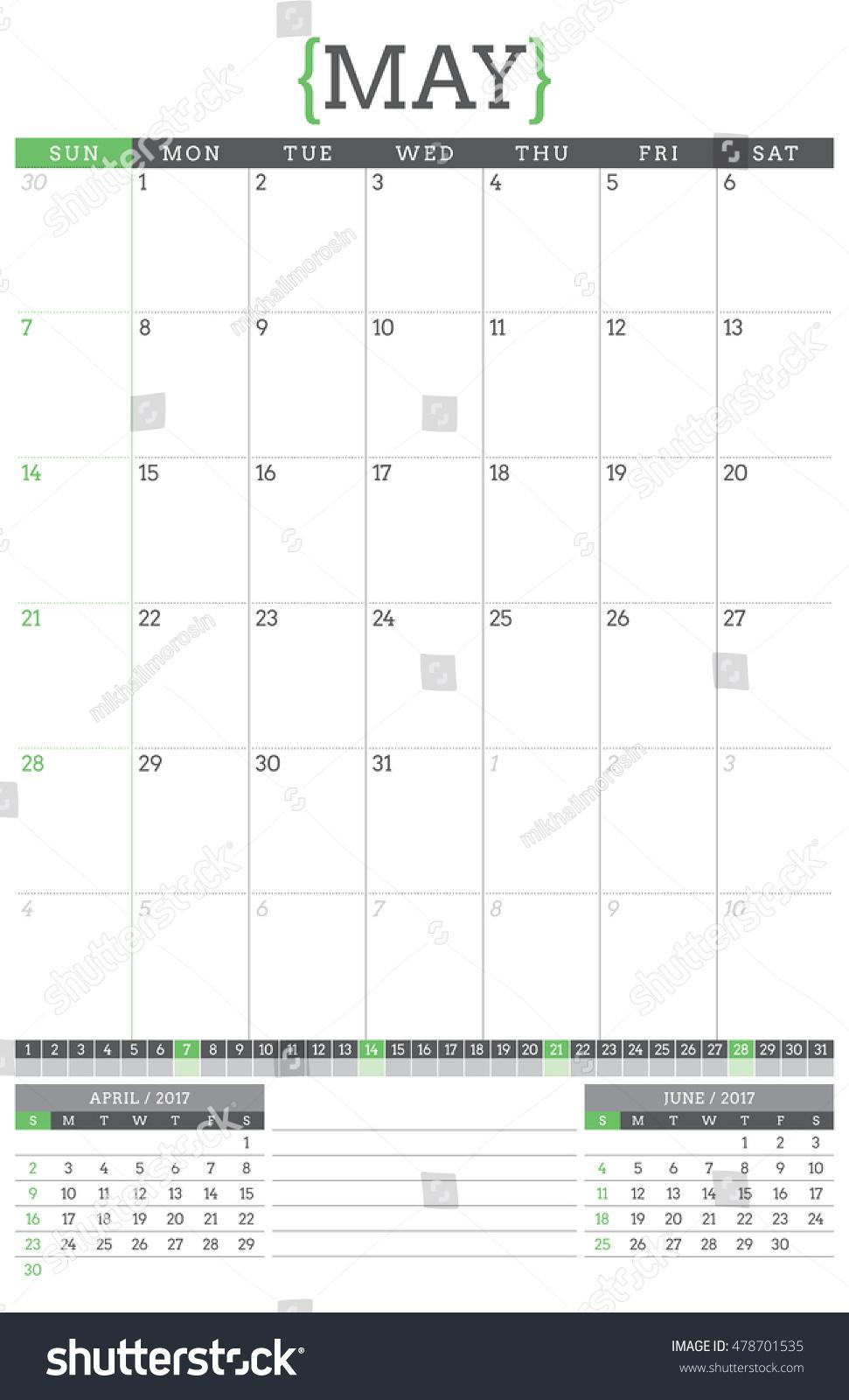 Calendar Planner May : Calendar planner year stationery design stock vector