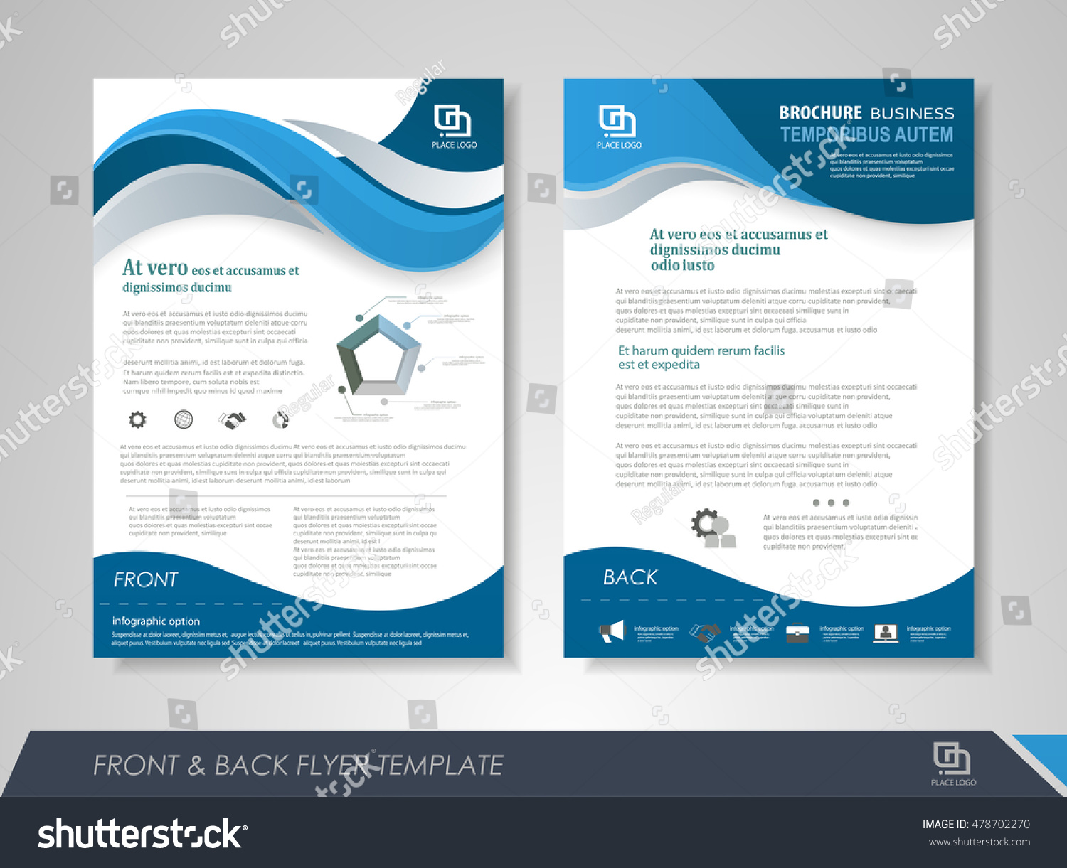 front back page annual report brochure stock vector  front and back page annual report brochure flyer design vector template leaflet cover presentation abstract