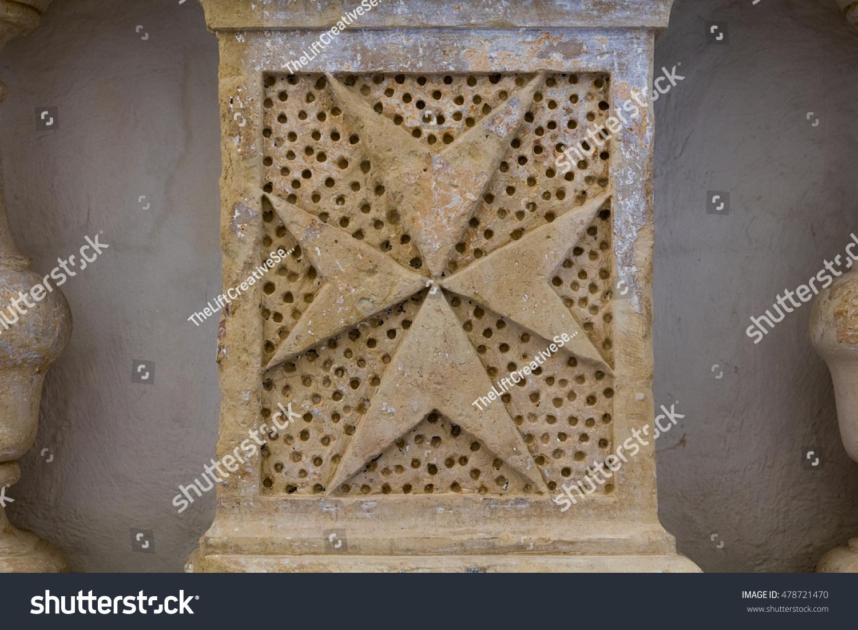 Carved limestone eight pointed maltese cross stock photo 478721470 carved limestone eight pointed maltese cross symbol of the knights of st john malta biocorpaavc