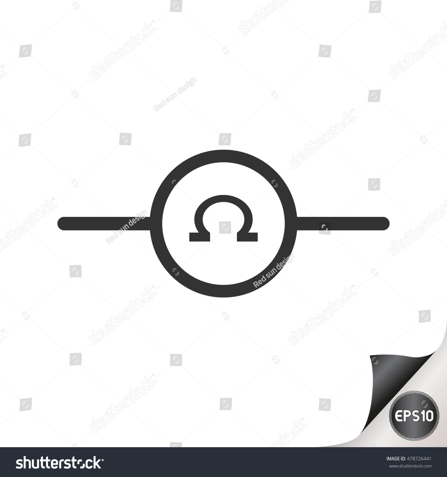 Electronic Circuit Symbol Ohms Meter Stock Vector 478726441 ...