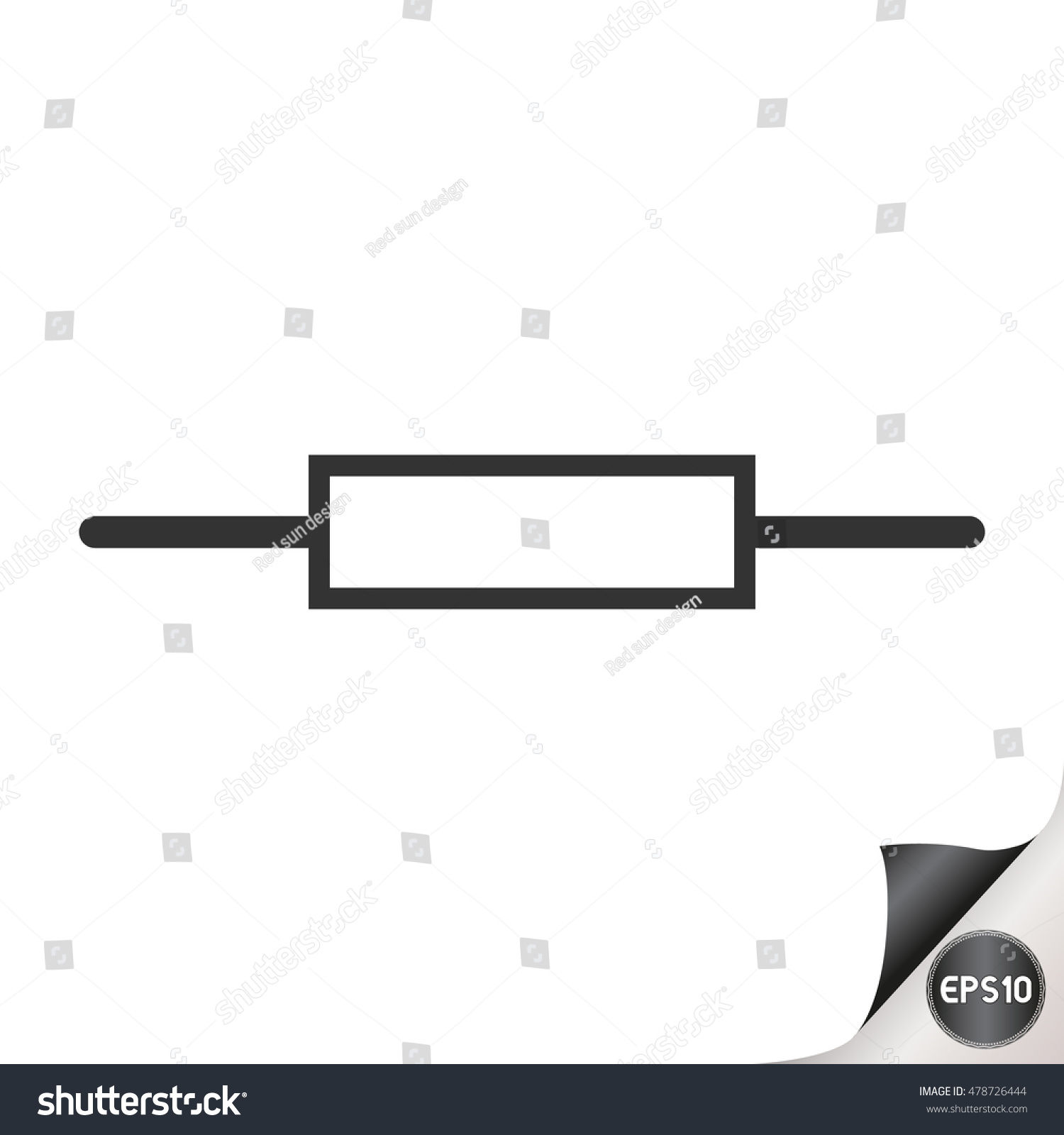 Electronic Circuit Symbol Resistor Stock Vector 478726444 - Shutterstock