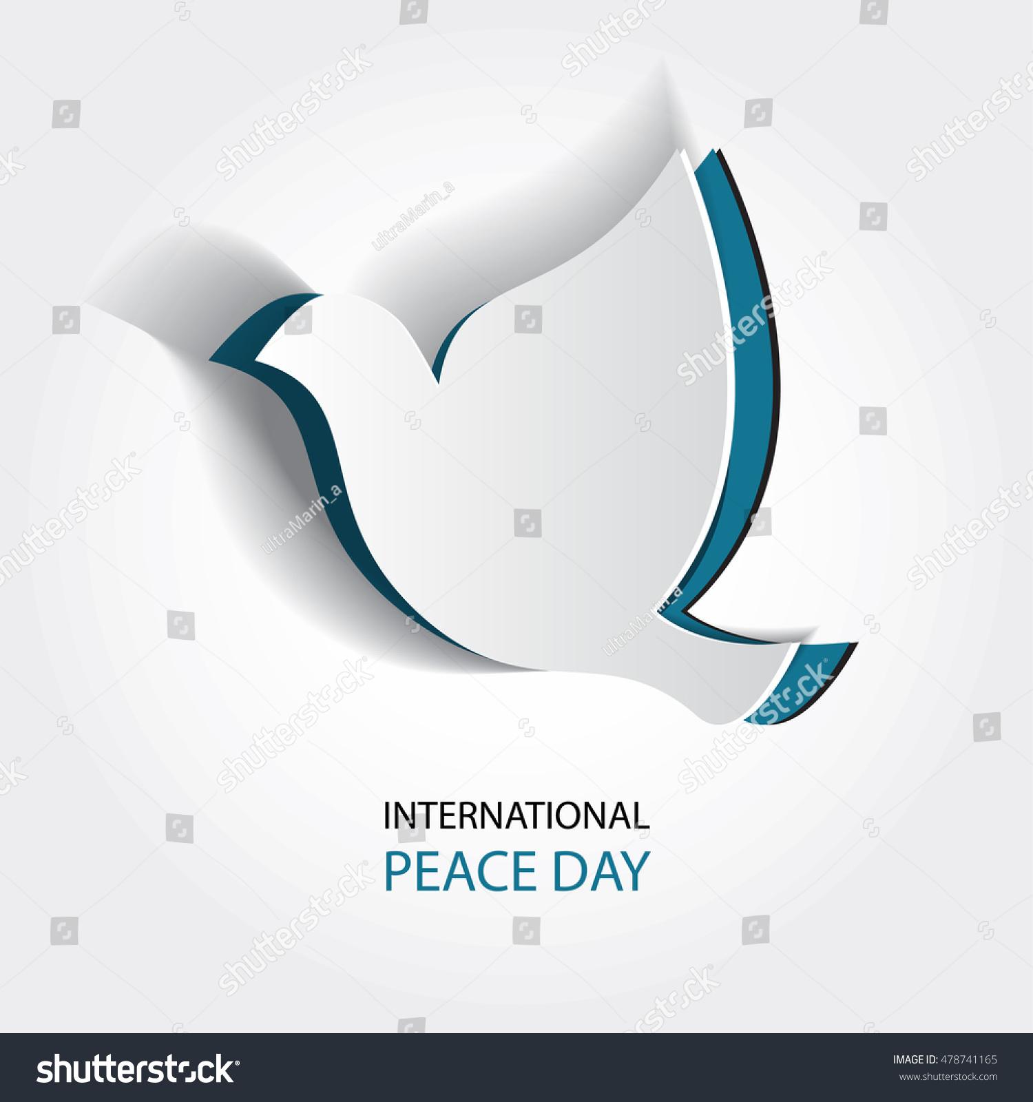 international day peace vector illustration white stock vector