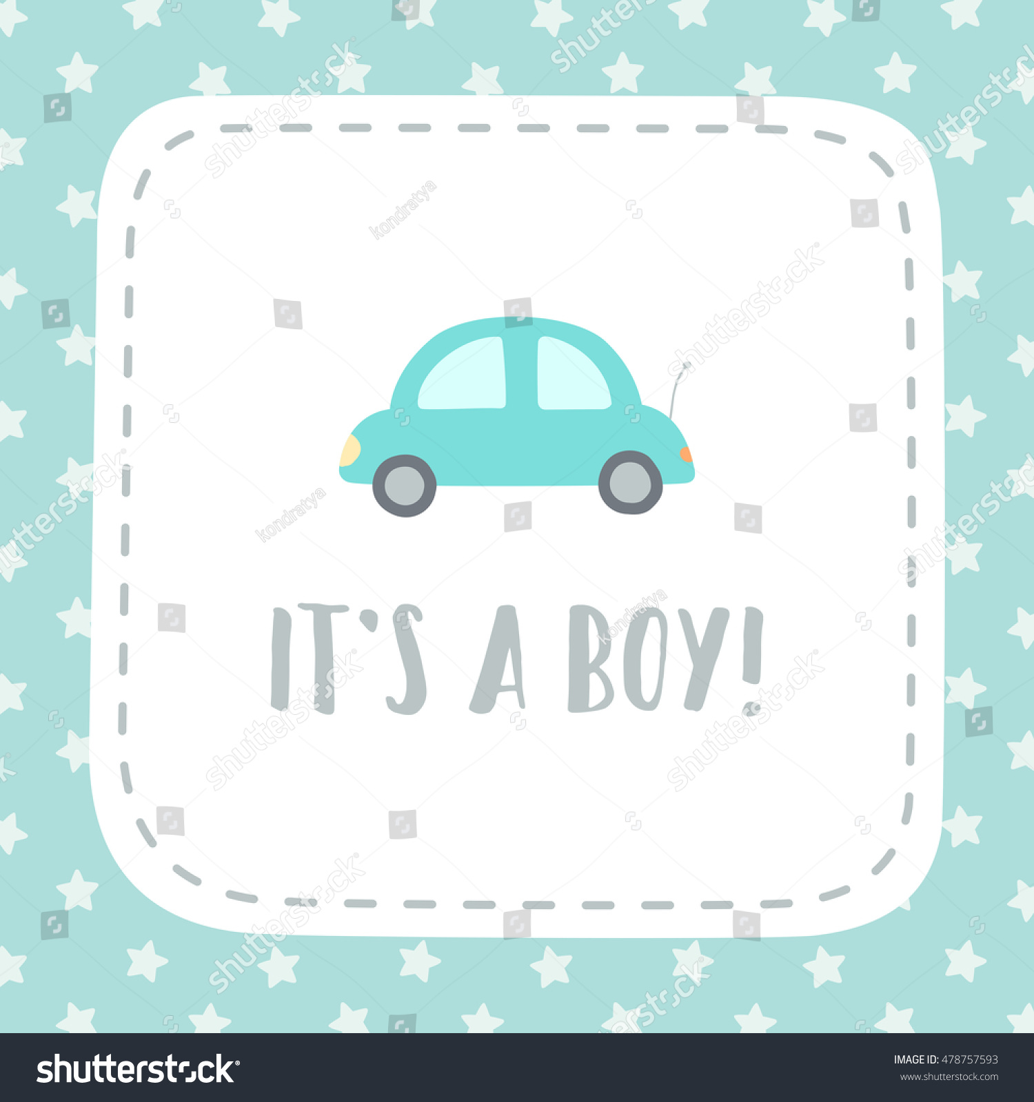 it s a boy vector hand drawn giftcard template  save to a lightbox