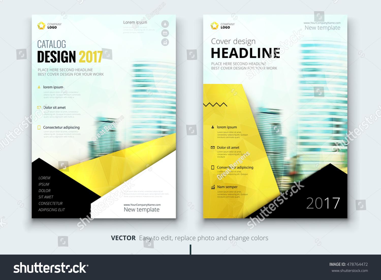 Yellow Flyer Modern Creative Design Corporate Stock-vektorgrafik ...