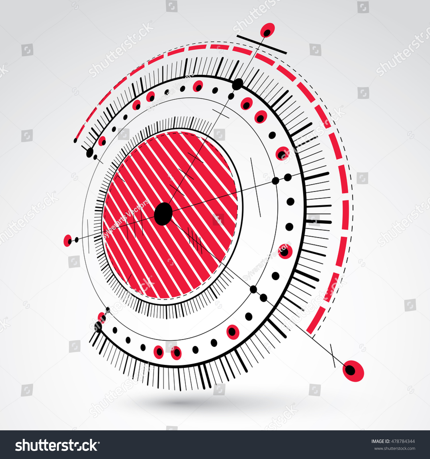 Technical blueprint red vector digital background stock vector technical blueprint red vector digital background with geometric design elements circles 3d illustration malvernweather Gallery