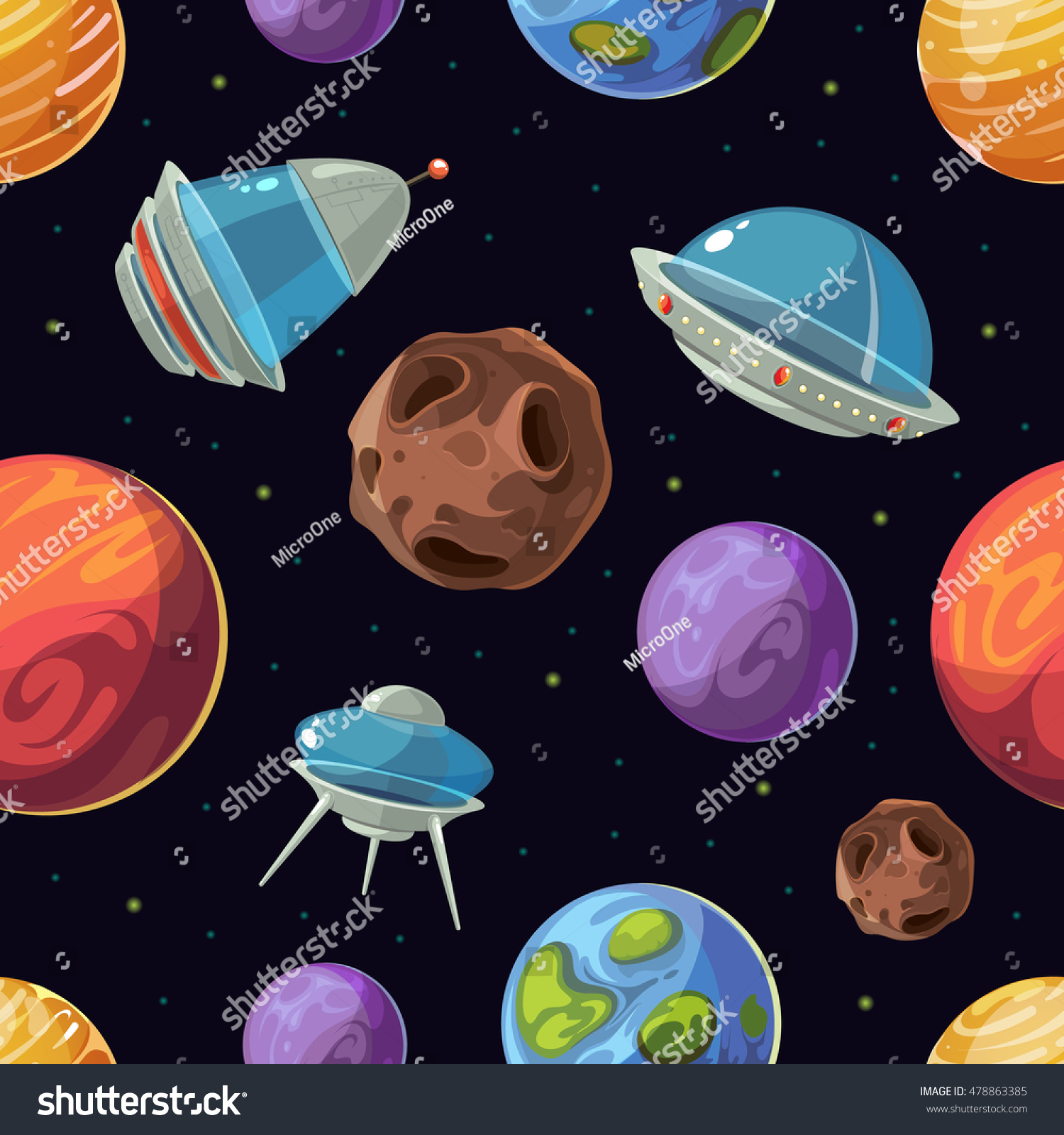 galaxies planets and stars cartoons - photo #27