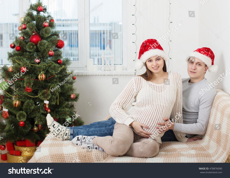 Happy Couple Christmas Tree Indoor Stock Photo (Edit Now) 478876090 ...