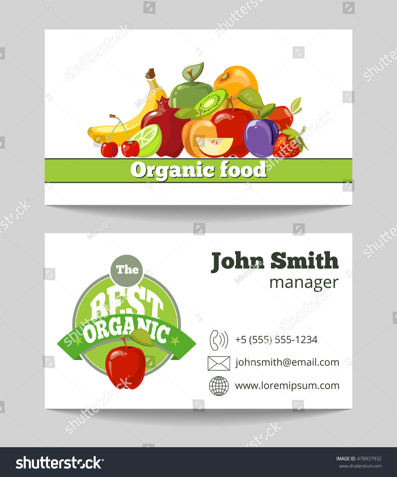 Organic food shop business card template stock vector 478937932 organic food shop business card template for the fruit farm vector illustration magicingreecefo Choice Image