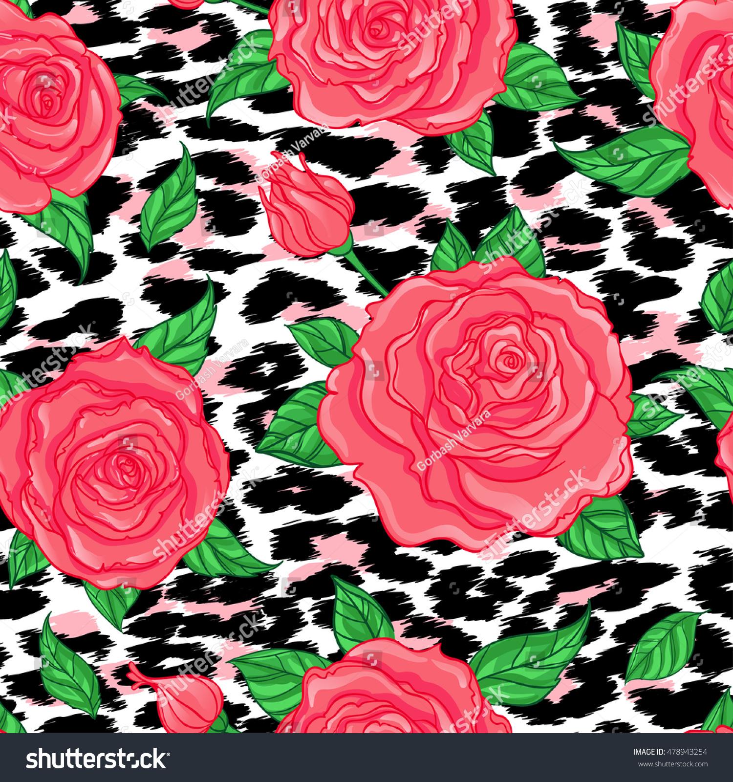 Seamless Elegant Vintage Floral Pattern Over Stock Vector