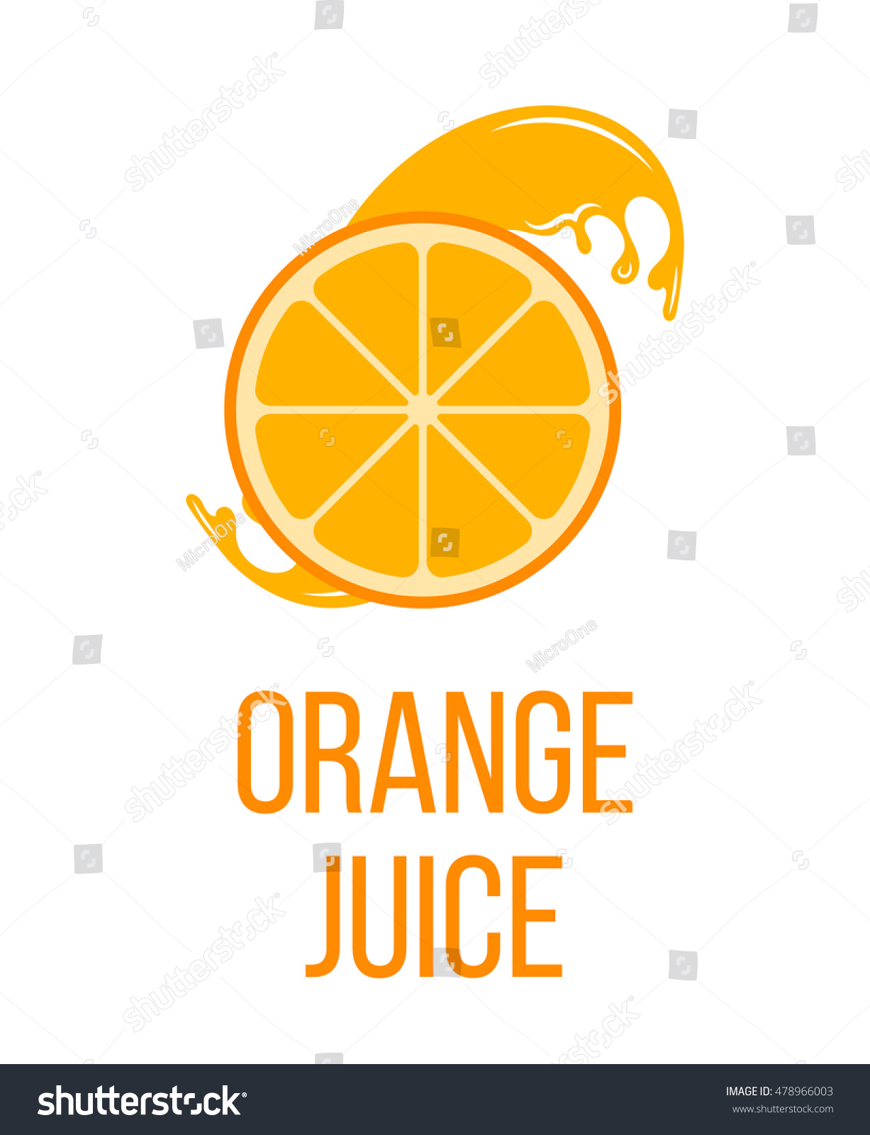 orange juice logo label isolated on stock vector 478966003 rh shutterstock com orange juice loaf orange juice colonoscopy