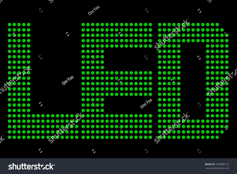 Green Led Symbol Black Background Stock-vektorgrafik 478968172 ...