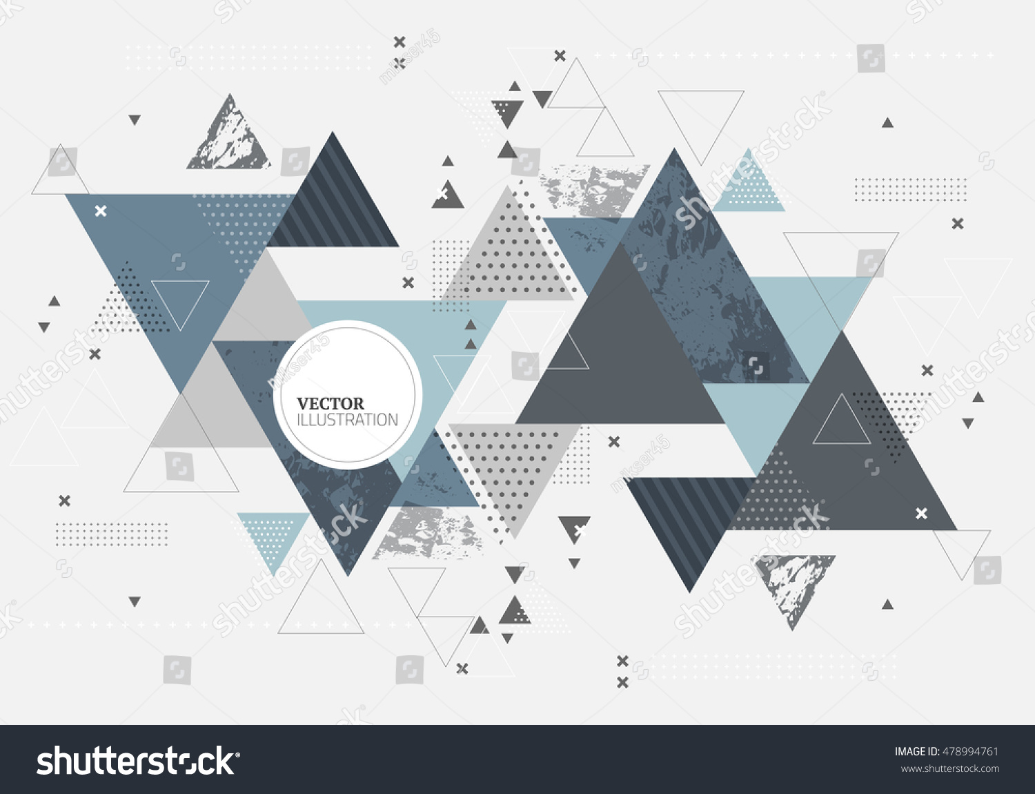 Abstract minimal geometric background Futuristic vector design with geometry elements