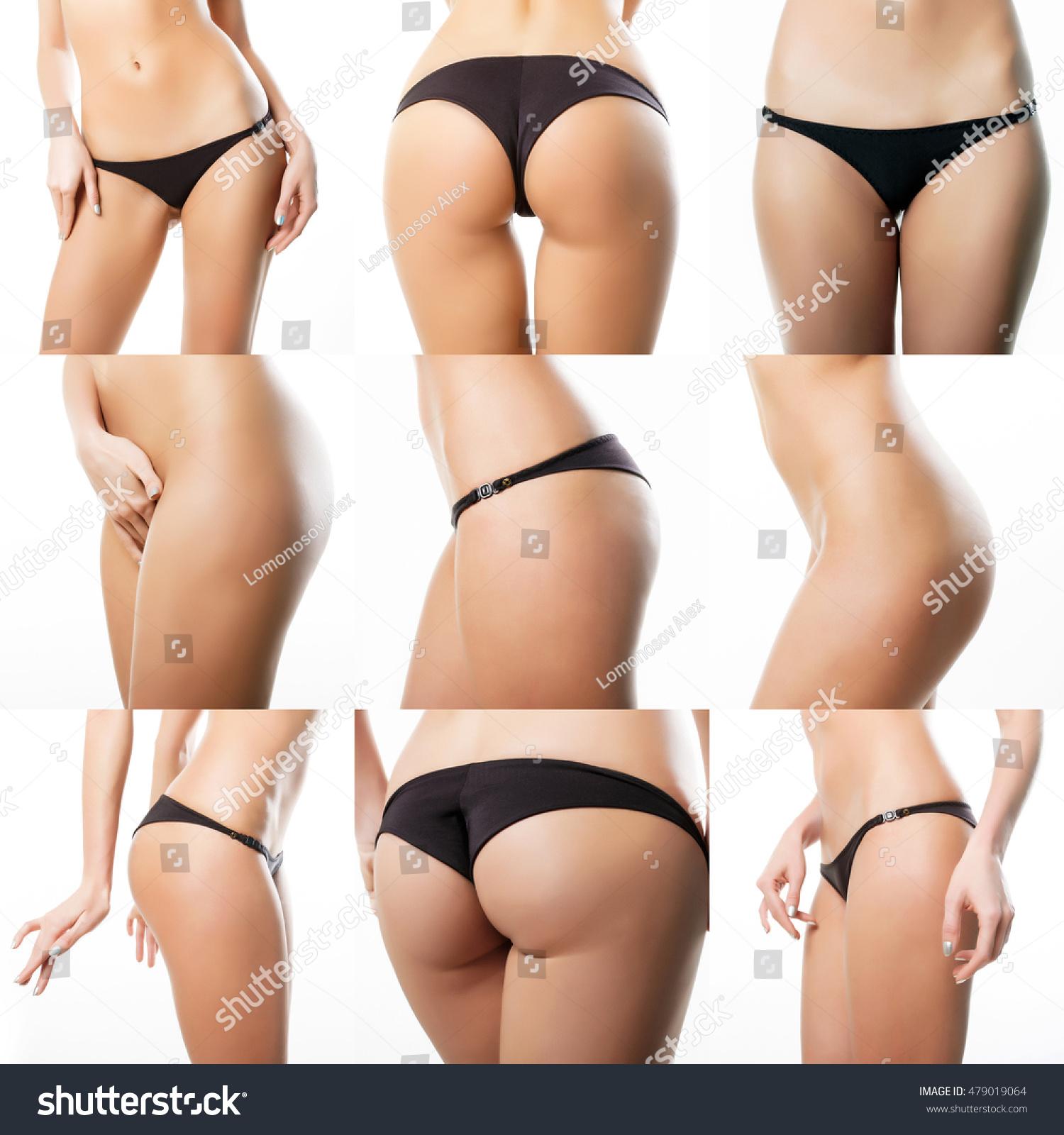 Beautiful nude buttocks