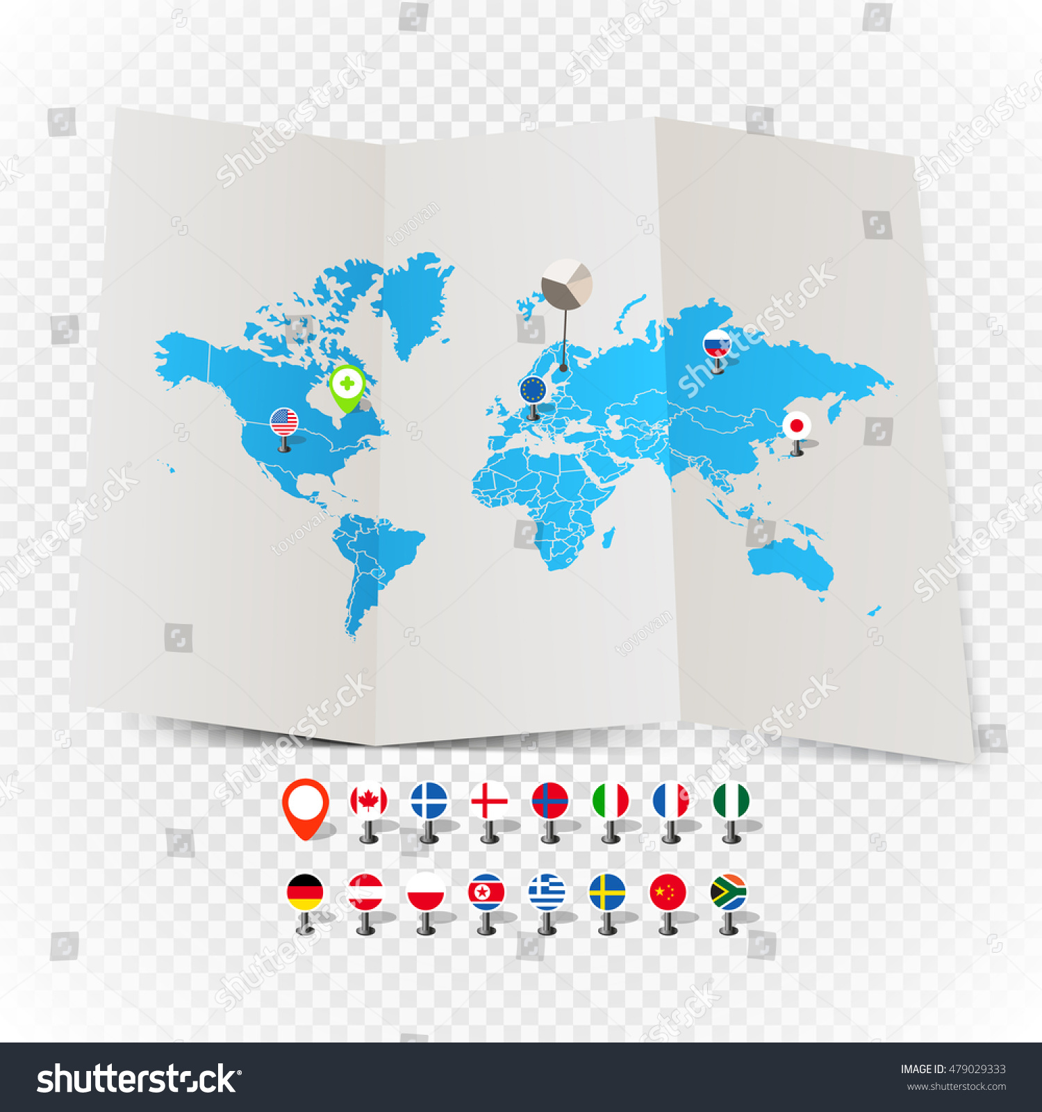 World map on old map flags stock vector 479029333 shutterstock world map on old map and flags of different countries and symbols on transparent background biocorpaavc Choice Image