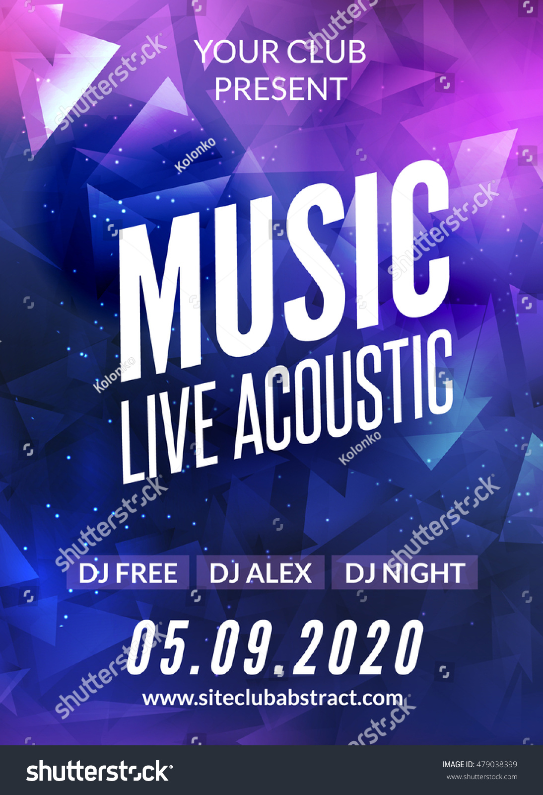 live music acoustic poster design temple stock vector  live music acoustic poster design temple live show modern party dj invitation flyer