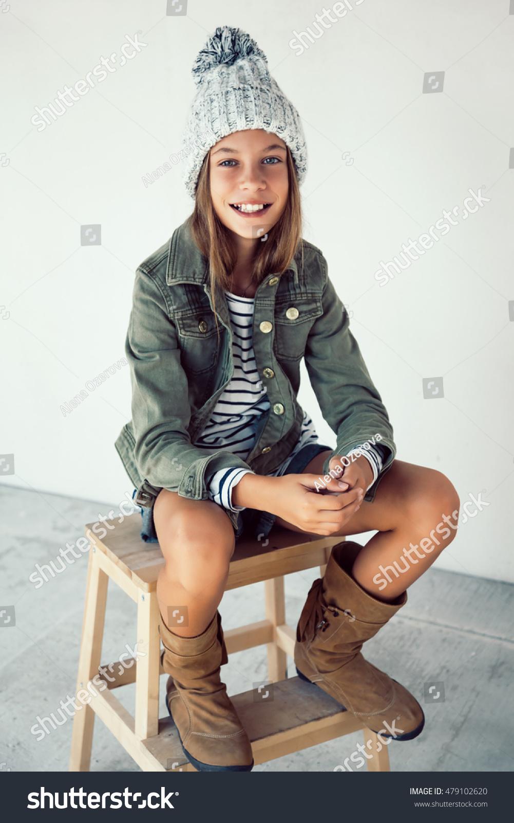 Fashion Pre Teen Girl 10 Years Stock Photo 479102620