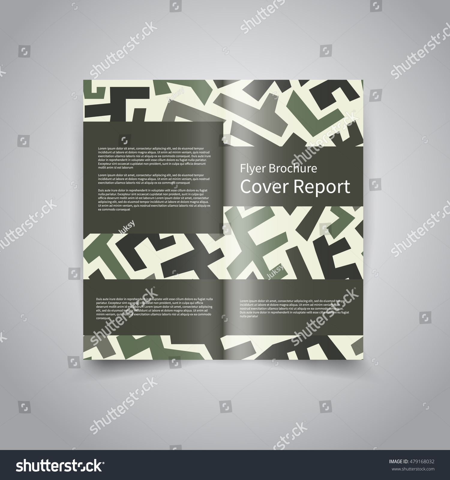Vector two fold brochure design template stock vector for Two fold brochure design