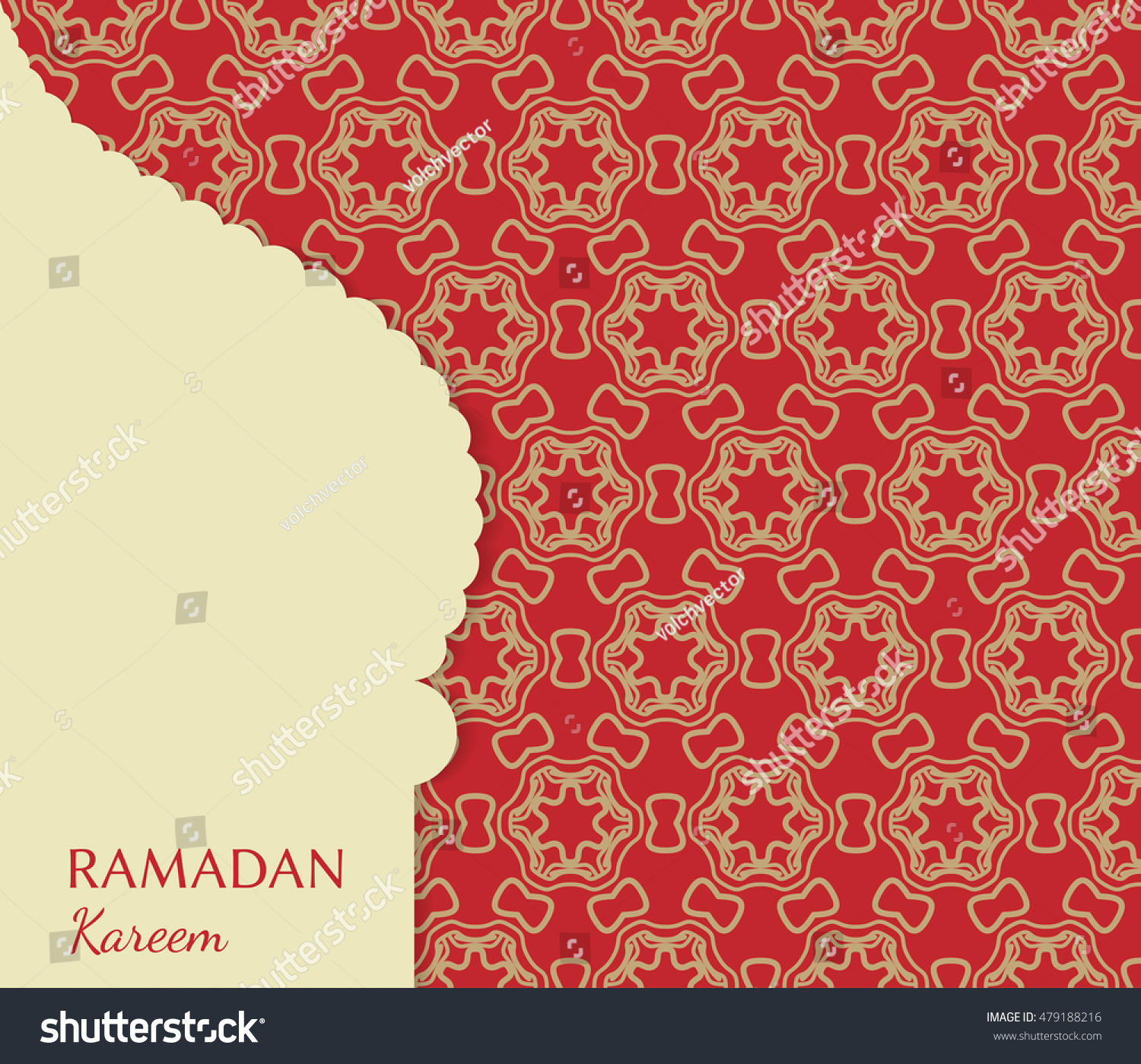 Islamic greeting card template arabic muslim stock vector 479188216 islamic greeting card template arabic muslim background seamless line pattern celebration card for m4hsunfo