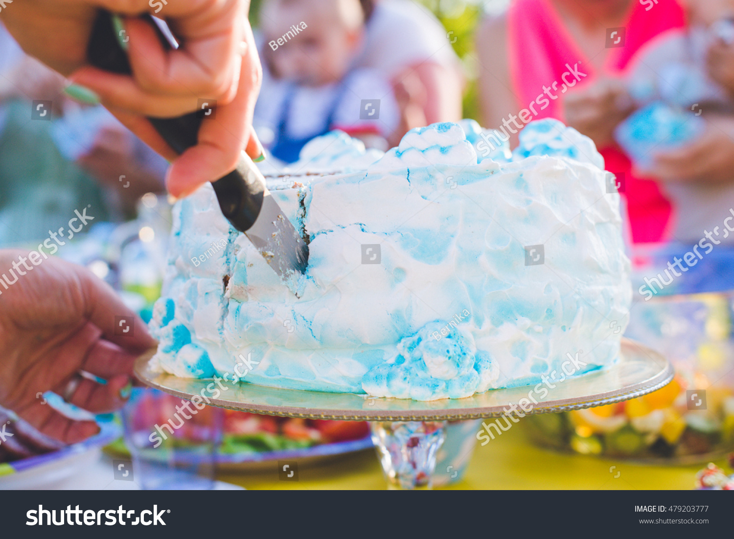 Pleasing Woman Hands Cutting Knife Peace Birthday Stock Photo 479203777 Personalised Birthday Cards Cominlily Jamesorg