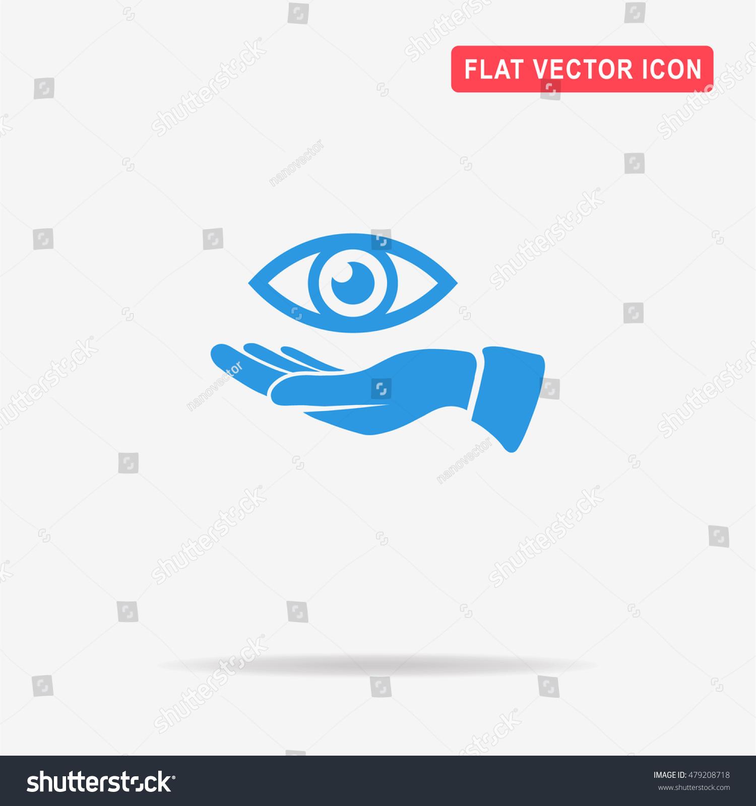 Eye Hand Icon Vector Concept Illustration Stock Vector 479208718