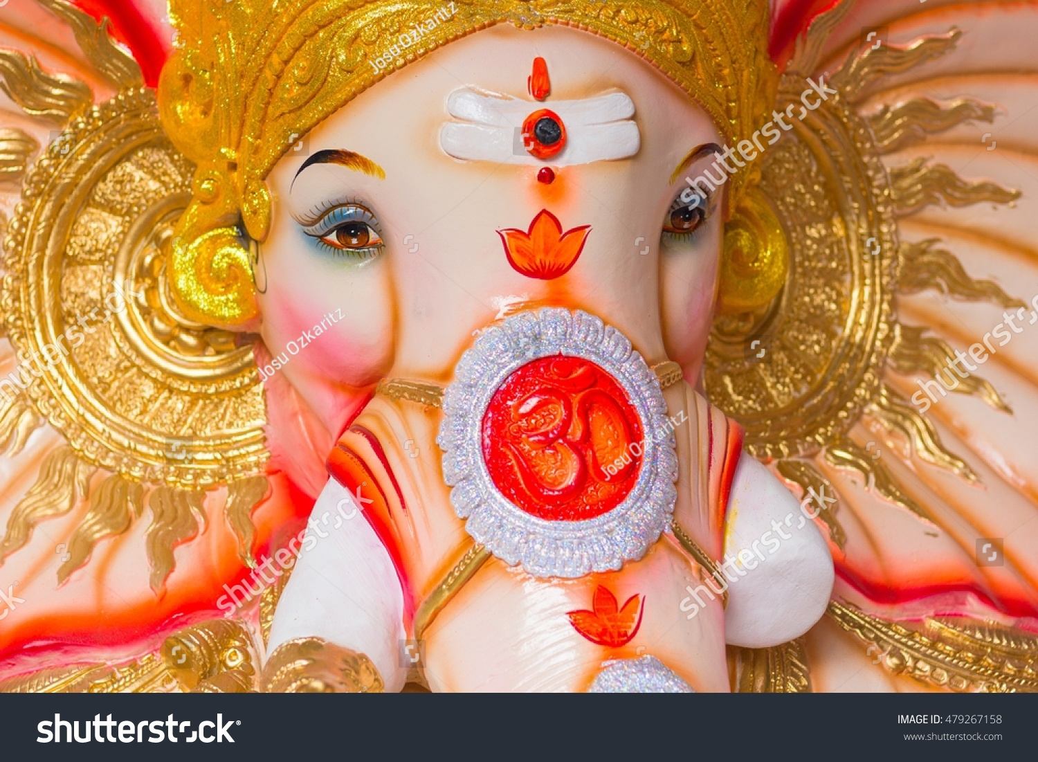 Close God Ganesh Colorful Image Om Stock Photo Edit Now 479267158