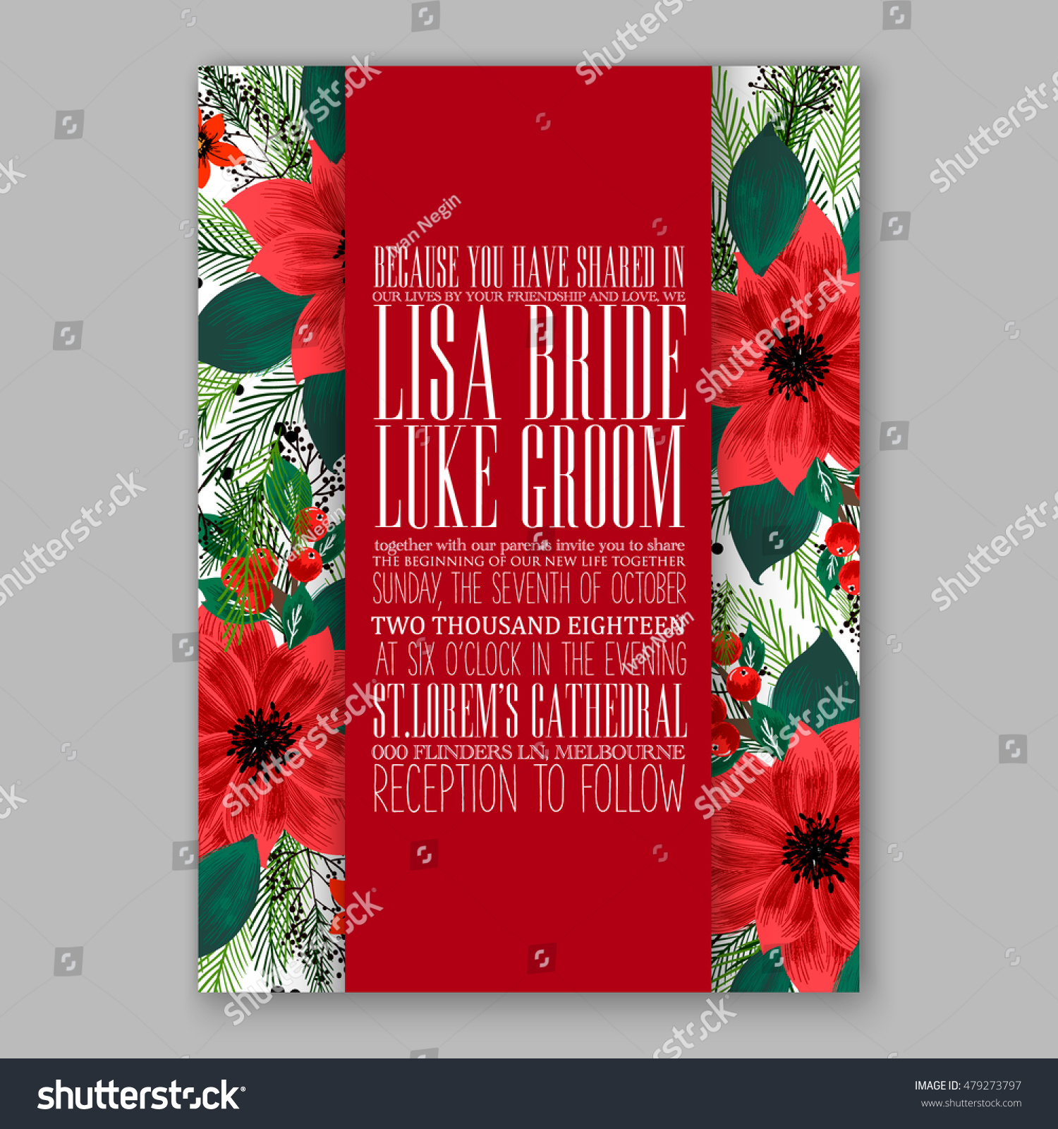 epic christmas party invitations ideas with combined green and