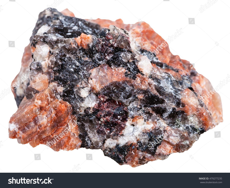Red Granite Rock : Macro shooting of igneous rock specimens natural red