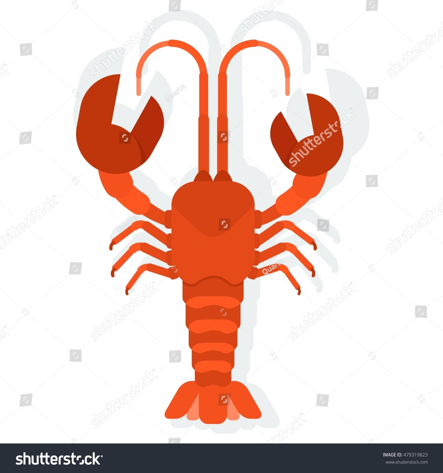 Vector Red Lobster Seafood Menu Lobster Stock Vector 479319823