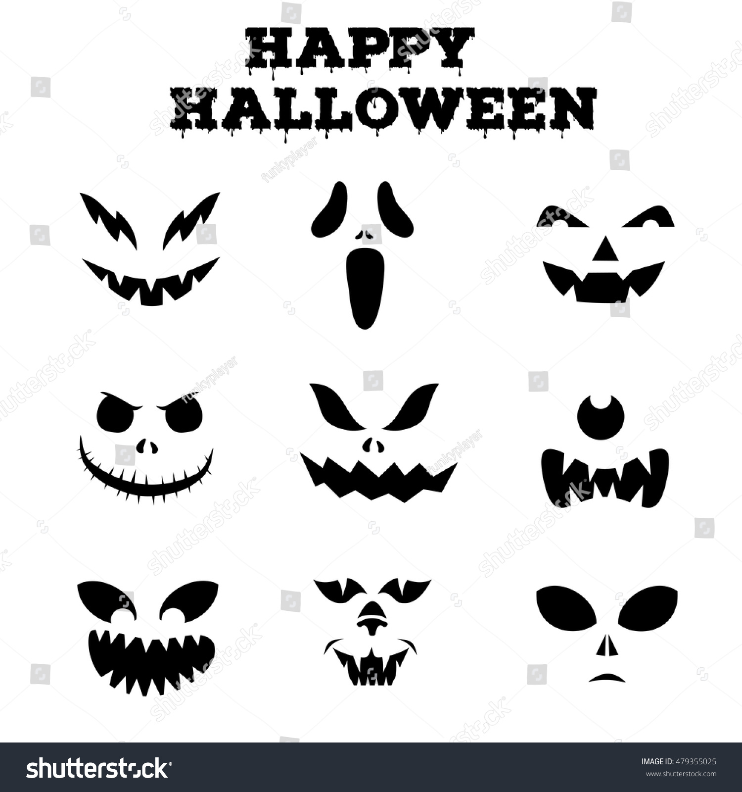 Pretty 010 Editor Templates Big 1 Inch Hexagon Template Square 10 Envelope Template Illustrator 100 Day Glasses Template Youthful 100th Day Hat Template Gray1096 Template Collection Halloween Pumpkins Carved Faces Silhouettes Stock ..
