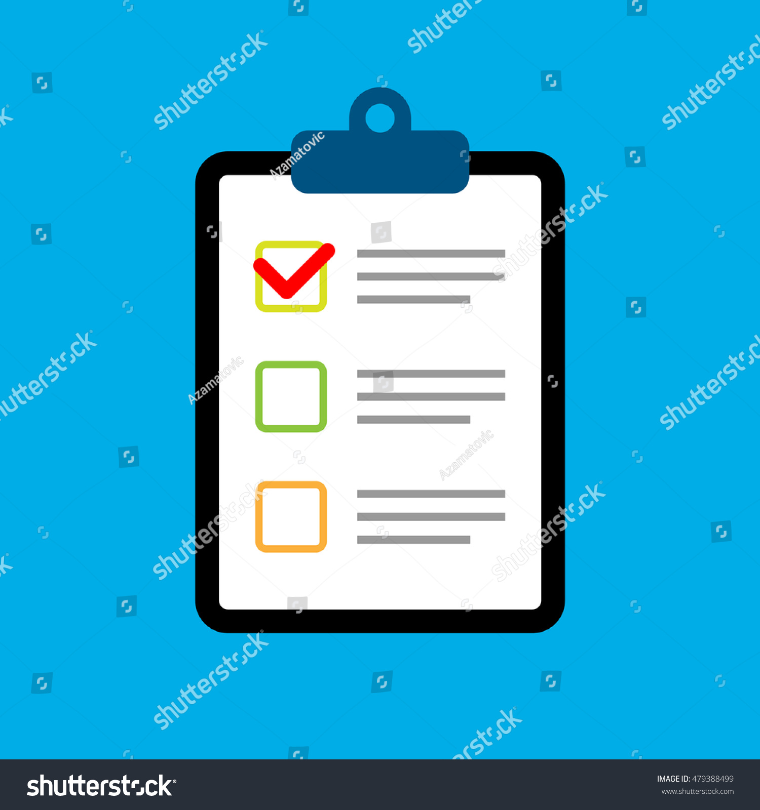 clipboard survey quiz or report focus group response flat save to a lightbox