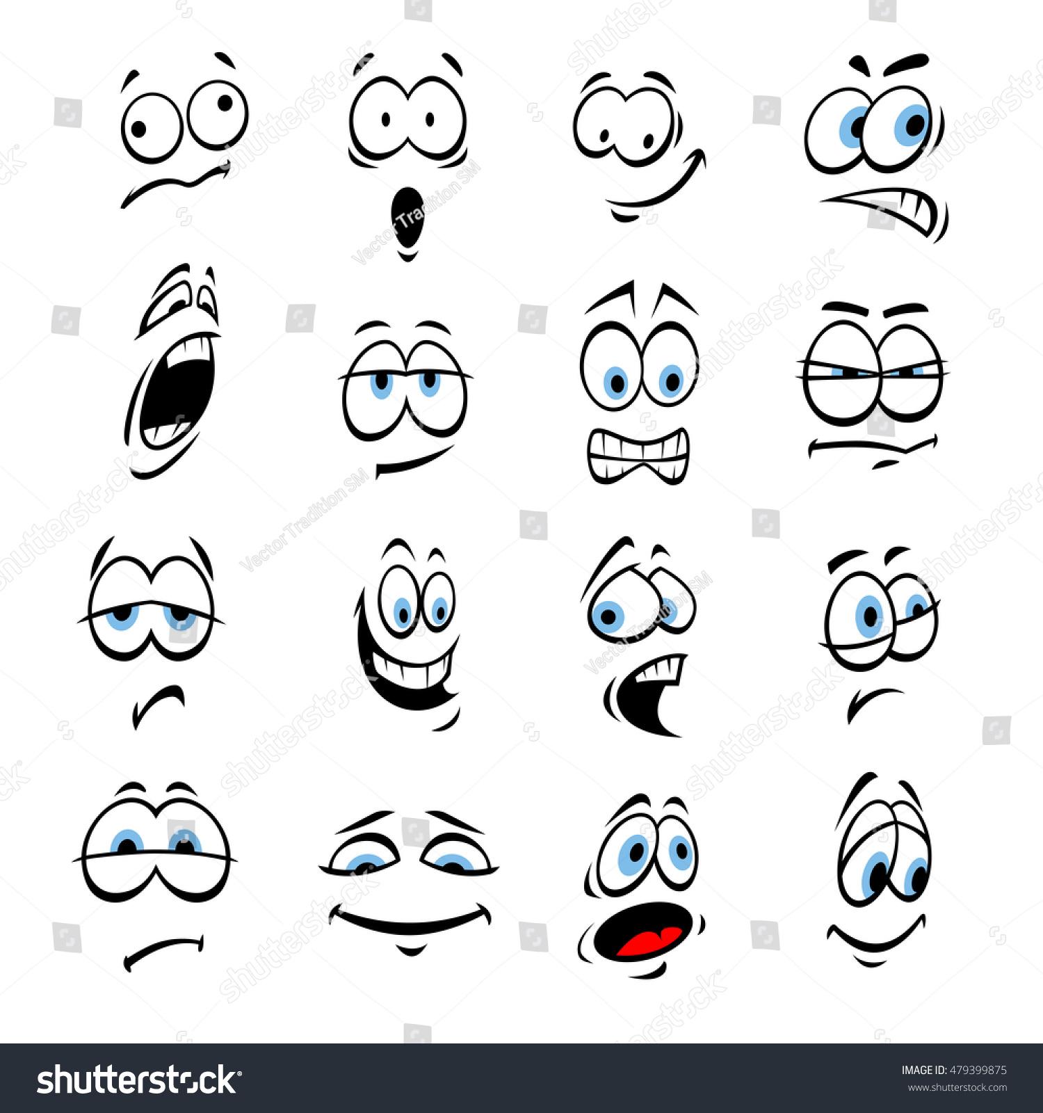 how to draw happy cartoon eyes