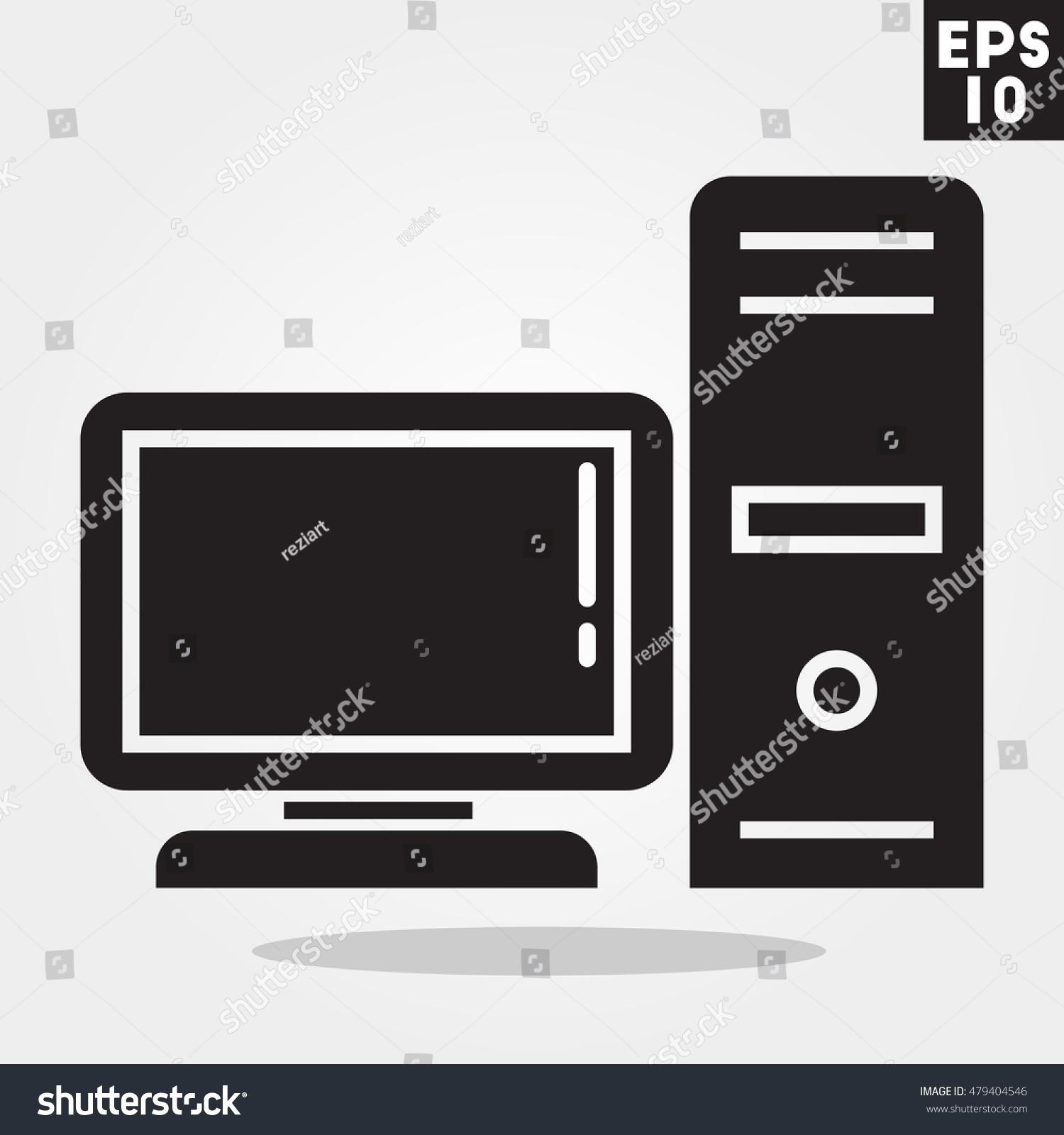 Computer Desktop Icon Trendy Flat Style Stock Vector 479404546